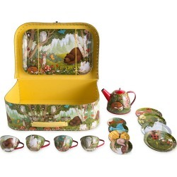 Woodland Tin Tea Set found on Bargain Bro Philippines from HearthSong for $26.98