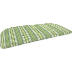 Sunbrella Classic Tufted Swing/Bench Cushion, in Light Green Stripe