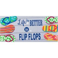 Life Is Better in Flip Flops Sassafras Switch Mat
