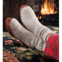 Acorn® Ragg Wool Slipper Socks with Suede Outsole in Gray found on Bargain Bro Philippines from Plow & Hearth for $53.95