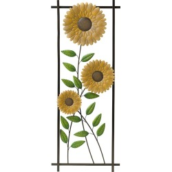 Sunflower Garden Metal Trellis/Wall Art found on Bargain Bro India from Plow & Hearth for $79.95