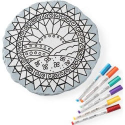 Color Pops® Color-Your-Own Garden Stone found on Bargain Bro India from HearthSong for $19.98