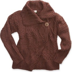 Cardigan Sweater with Single-Button, in Chocolate, Size Small (4-6) found on Bargain Bro Philippines from Plow & Hearth for $129.95