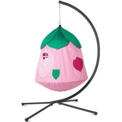 Cozy Posy HugglePod HangOut Special with Flower Hanging Tent, LED Flower Lights, and Stand found on Bargain Bro India from HearthSong for $349.00