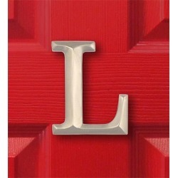 Sand-Cast Monogram Door Knocker By Michael Healy, in Nickel, Letter L found on Bargain Bro India from Plow & Hearth for $59.95