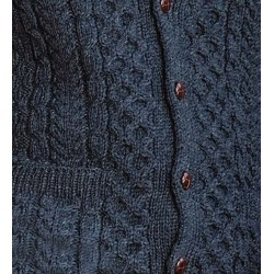 Women's Irish Fishermen's Cable Knit Wool Cardigan, Charcoal, Medium found on Bargain Bro Philippines from Plow & Hearth for $129.95