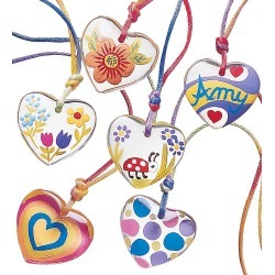 Color-My-Heart® Pendant Necklace Craft Kit-Set of Six found on Bargain Bro India from HearthSong for $14.98