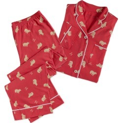 Life is Good Women's Polar Bear Pajama Set found on Bargain Bro Philippines from Plow & Hearth for $59.97
