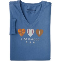 Life Is Good Women's Long Sleeve Crusher Vee found on Bargain Bro Philippines from Plow & Hearth for $22.99