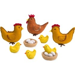Felt Chickens Playset found on Bargain Bro India from HearthSong for $29.98