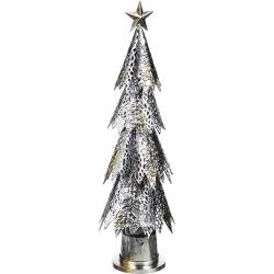 Metal LED Christmas Tree with Green Light