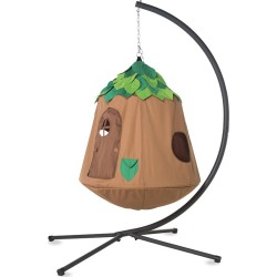 Woodland HugglePod HangOut Special with Hanging Tent, LED Leaf Lights, and Stand found on Bargain Bro India from HearthSong for $349.00