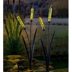 Solar Cattail Garden Stake found on Bargain Bro India from Plow & Hearth for $39.95