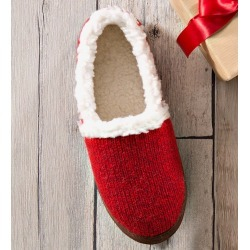 Acorn Women's Moc Ragg Slippers, in Red Ragg Wool Size M(6-1/2-7-1/2) found on Bargain Bro Philippines from Plow & Hearth for $44.95