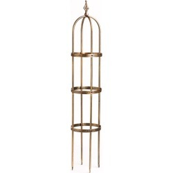 5' Powder-Coated Steel Garden Obelisk, in Antique Copper found on Bargain Bro India from Plow & Hearth for $59.95