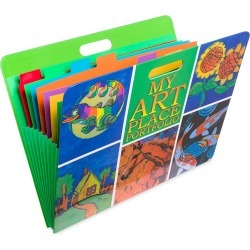 My Art Place Expandable Color-Tabbed Art Storage Portfolio found on Bargain Bro India from HearthSong for $24.98