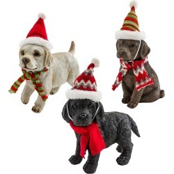 Holiday Labrador Puppy Statues with Hats and Scarves, Set of 3 found on Bargain Bro India from Plow & Hearth for $69.95