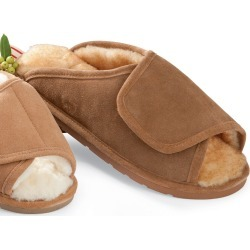 Men's Indoor/Outdoor Sheepskin Side-Wrap Slipper found on Bargain Bro Philippines from Plow & Hearth for $74.95