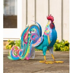 Colorful Metal Rooster Accent found on Bargain Bro India from Plow & Hearth for $69.95