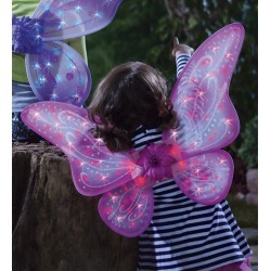 Pink LED Twinkling Fairy Wings found on Bargain Bro India from HearthSong for $16.98