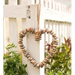 Hanging Rock Heart Wreath found on Bargain Bro India from Plow & Hearth for $24.95