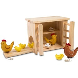 Wooden Chicken Coop and Felt Chickens Play Set found on Bargain Bro India from HearthSong for $59.98