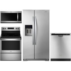Whirlpool 4 Piece Electric Kitchen Appliance Package with Counter.
