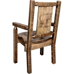 Captain's Dining Room Chair with Laser Engraved Bear - Homestead