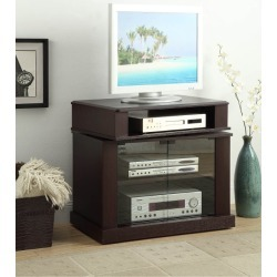 Cherry Brown Swivel Top 32 Inch TV Stand - Maren