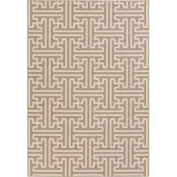6 x 9 Large Camel and Cream Indoor-Outdoor Rug - Alfresco found on Bargain Bro India from rcwilley.com for $215.00
