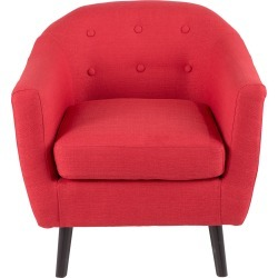 Mid Century Modern Red Accent Chair - Rockwell