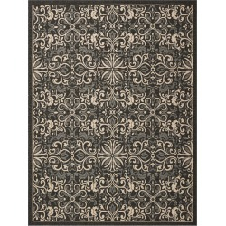 8 x 10 Large Charcoal Gray Indoor-Outdoor Rug - Caribbean found on Bargain Bro India from rcwilley.com for $349.99