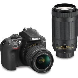 Nikon D3400 DSLR Camera with 18-55mm and 70-300mm Lenses found on Bargain Bro India from rcwilley.com for $999.99