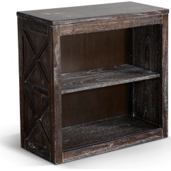 Rustic Dark Brown Bookcase - Carriage House