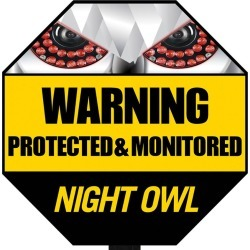 Night Owl Reflective Outdoor Yard Stake Sign found on Bargain Bro India from rcwilley.com for $9.99