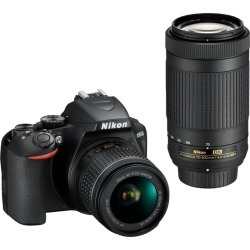 Nikon D3500 Digital Camera with 18-55mm and 70-300mm Lenses found on Bargain Bro India from rcwilley.com for $449.99