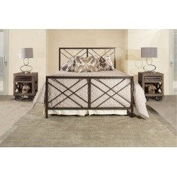 Contemporary Pewter Full Metal Bed - Westlake found on Bargain Bro India from rcwilley.com for $349.99
