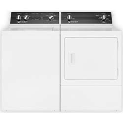 Speed Queen Top Load Washer and Dryer Set - White Electric