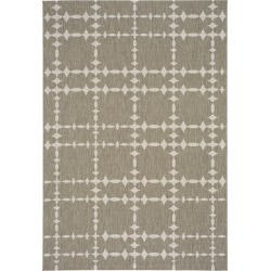 8 x 11 Large Barley Tan Indoor-Outdoor Rug - Finesse-Tower Court found on Bargain Bro India from rcwilley.com for $289.00