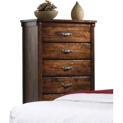 Rustic Brown Chest of Drawers - Jessie
