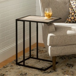 Modern End Table - Gray Wash