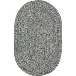 5 x 8 Medium Smokey Quartz Gray Oval Braided Indoor-Outdoor Rug. found on Bargain Bro India from rcwilley.com for $379.00