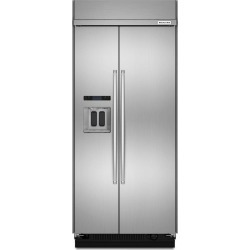 KitchenAid Built-in Side-by-Side Refrigerator - 36 Inch Stainless.