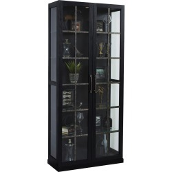 Modern Black Tall Curio Cabinet - Pulaski found on Bargain Bro Philippines from rcwilley.com for $1199.99