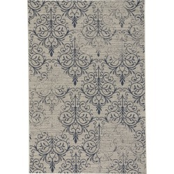 4 x 6 Small Navy Indoor-Outdoor Rug - Finesse Heirloom found on Bargain Bro India from rcwilley.com for $149.99