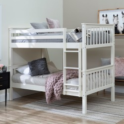 Mission White Twin-over-Twin Bunk Bed