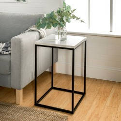 Modern Side Table - White Marble