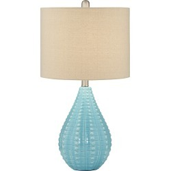 Turquoise Blue Table Lamp - Coastal