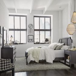 Classic Contemporary Gray 4 Piece Queen Bedroom Set - 5th Avenue