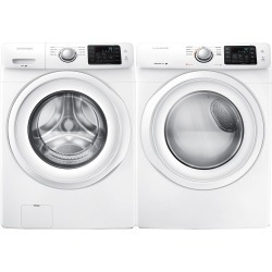 Samsung Front Load Washer and Electric Dryer Set - White